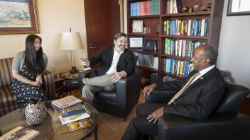 Chancellor Gary May meets for an interview with Sactown Magazine in his office on Wednesday August 16, 2017.