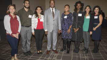 Chancellor May with CAMPOS Faculty Scholars