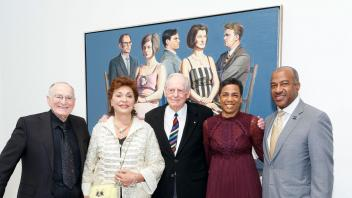 DAVIS, CA - January 13 - Jan Shrem, Maria Manetti Shrem, Wayne Thibaud, Leshelle May and Gary May attend Manetti Shrem Museum of Art Opening Gala: Wayne Thiebaud 1958-1968 on January 13th 2018 at Manetti Shrem Museum of Art, UC Davis in Davis, CA (Photo - Drew Altizer)