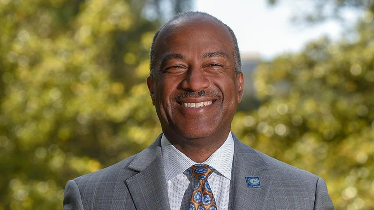 UC Davis Chancellor Gary May photographed on the quad on August 21, 2019