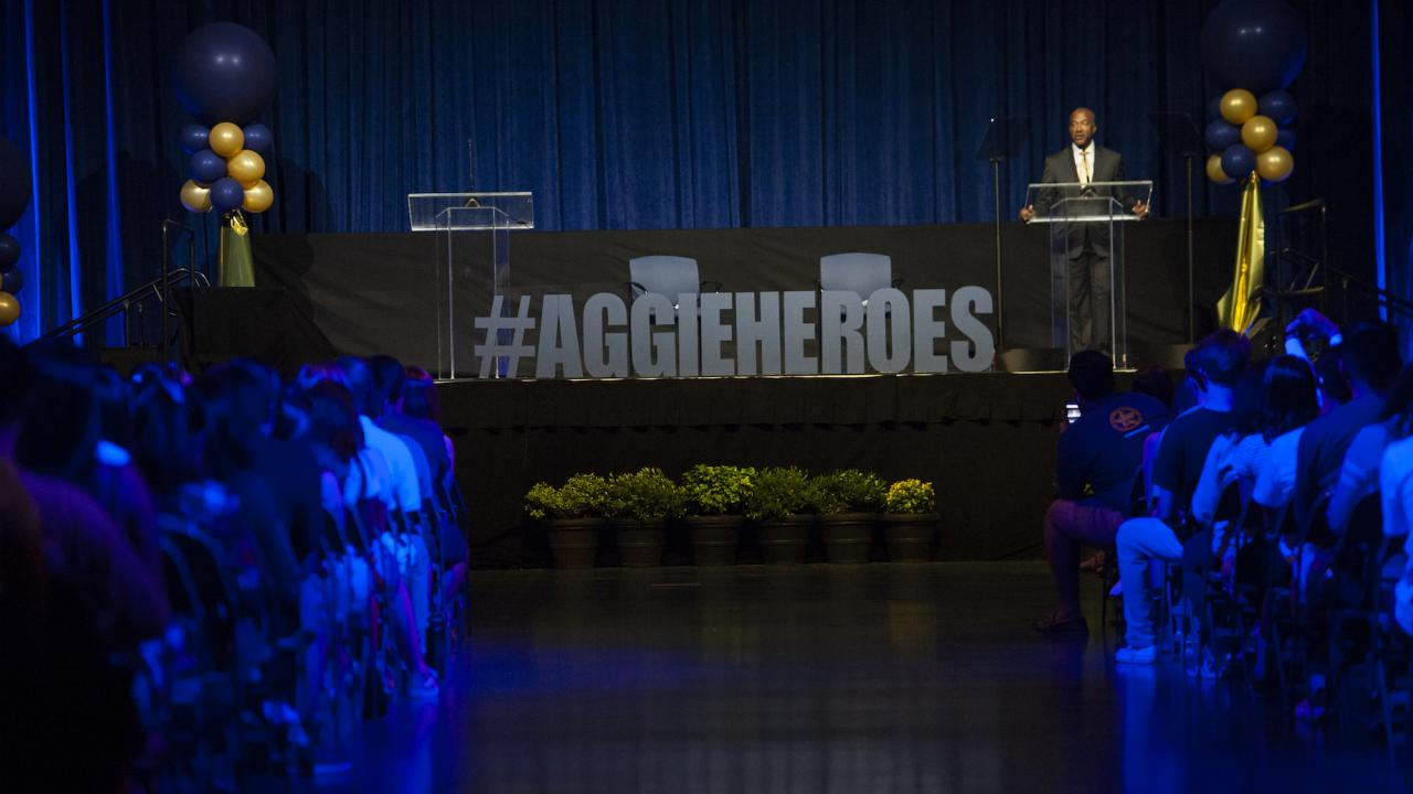 UC Davis Aggie Heroes Fall Welcome