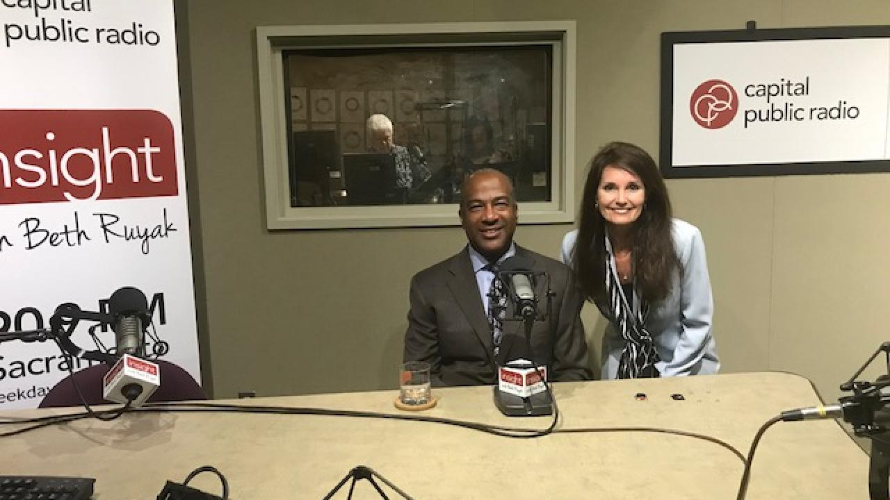 UC Davis Chancellor Gary May with Beth Ruyak on Capital Public Radio